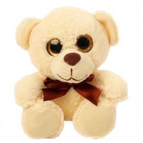 Plüsch Teddy mit großen Augen - Weiß / Creme