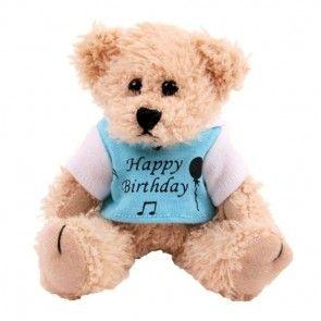 Teddybär zum Geburtstag mit Shirt Happy Birthday