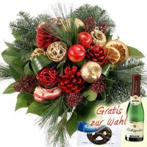 Gold-Ensemble zu Weihnachten - Blumen zu Weihnachten einfach und günstig versenden.