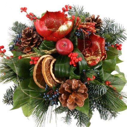 Blumenstrauß Weihnachtszauber mit Gratiszugabe Ihrer Wahl – Blumen online deutschlandweit versenden  mit www.blumenfee.de - dem Blumenversand