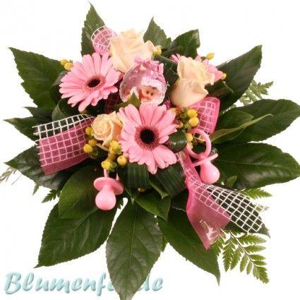 Blumen zur Geburt eines kleinen Mädchens