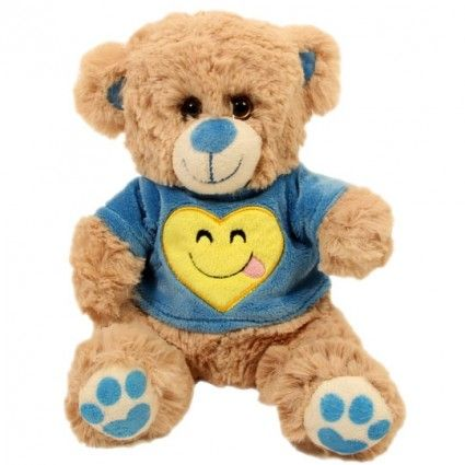 Plüsch Teddy Mr Smile - mit Shirt und Smiley Herz-Aufdruck