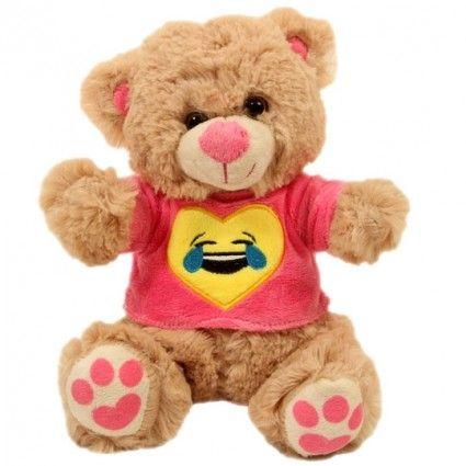 Teddy Mrs Smile mit Smiley Shirt Rosa