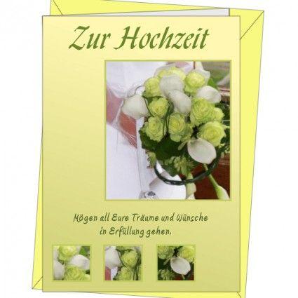 Doppelkart mit Briefumschlag - Grußkarte - Zur Hochzeit