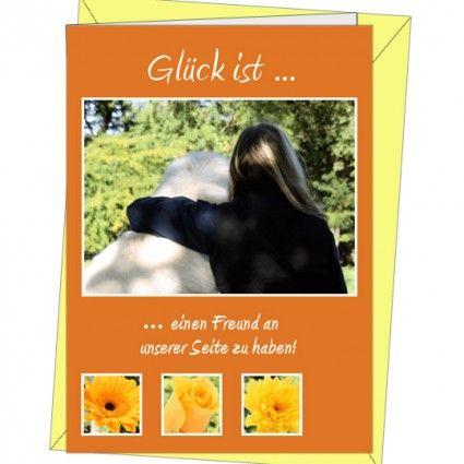 Doppelkarte mit Briefumschlag - Grußkarte Freunde - Motiv 2