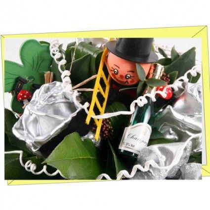 Hochwertige Grußkarte mit Neujahrsmotiv als Ergänzung für Ihren Blumenstrauß online bestellen im Blumenversand Blumenfee www.blumenfee.de