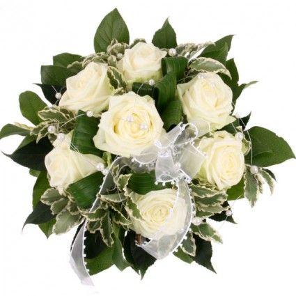 Brautstrauß White Dream – Blumen online deutschlandweit versenden mit www.blumenfee.de - dem Blumenversand