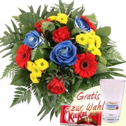 Blumen Fan Strauss onlie bestellen und versenden