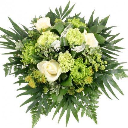 Blumenfee Blumenstrauß Sinfonie - Grün / Weiss Premium