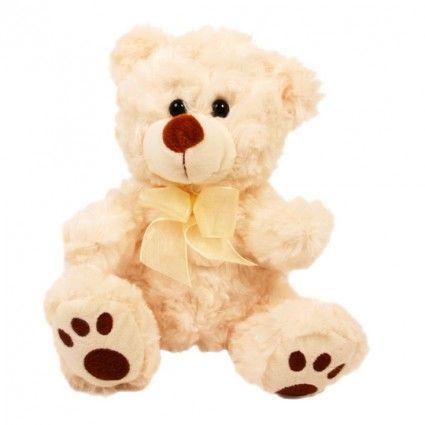 Teddybär Browny mit großen Tatzen zusammen mit Ihrem Blumenstrauß online bestellen