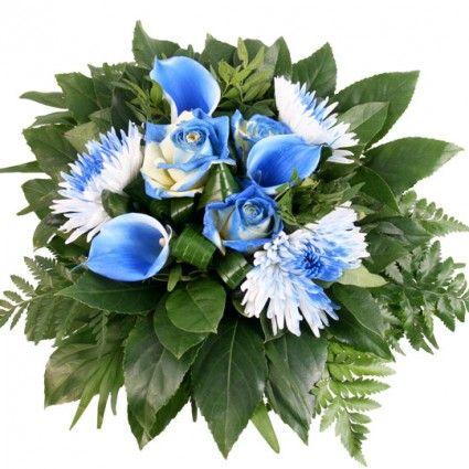 Blumenstrauß - Blaues Farben-Spektakel Pur