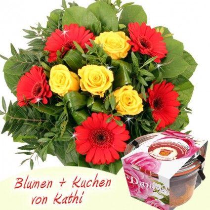 Kathi Danke - Kuchen und Blumenstrauß online sicher und schnell versenden mit Blumenfee - dem Blumenversand