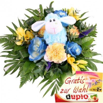 Blumenstrauß Kuschel-Flower Lisa das Schaf - Blumen und Kuscheltier - online verschicken mit Blumenfee