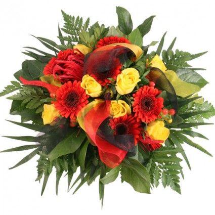 Blumenstrauß Rot-Schwarz-Gold Traum
