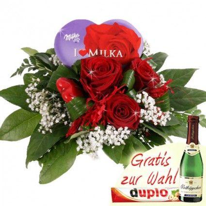 Valentinstag Blumen und Schokolade online bestellen mit Blumenfee Schoko-Flower - gut und günstig