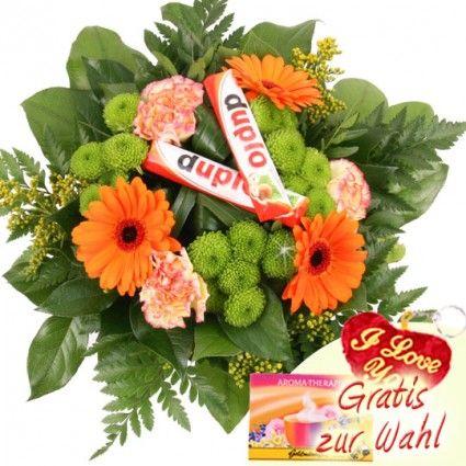 Blumen und Pralinen - Süße Verführung an Blumen günstig und frisch versenden mit dem Blumenversand Blumenfee.