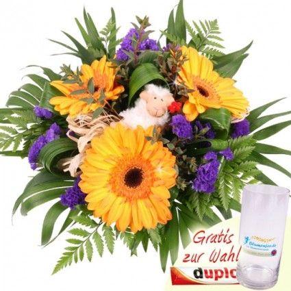 Blumenstrauß Blumenfee Spezial mit Schaf - online bestellen auf blumenfee.de