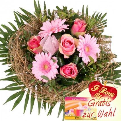 Blumenstrauß - Blütentraum in Rosa - Blumen online verschicken mit dem Blumenfee Blumenversand