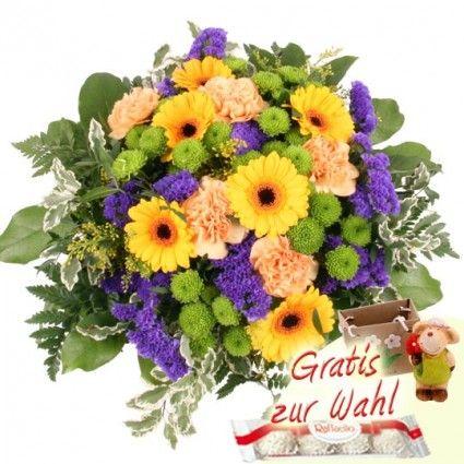 Blumenstrauß Summer Harmony mit 3 Gratiszugaben Ihrer Wahl – Blumen online verschicken auf www.blumenfee.de
