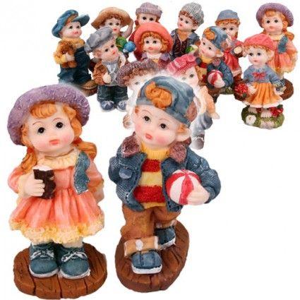 Filigran gestaltete Deko-Figuren Junge & Mädchen online bestellen