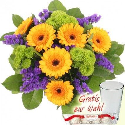 Blumenstrauß Happy Summer – Blumen online verschicken mit dem Blumenfee Blumenversand