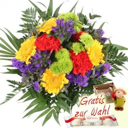 Blumenstrauß Sommerglück mit 3 Gratiszugaben Ihrer Wahl – Blumen online versenden auf www.blumenfee.de - dem Blumenversand