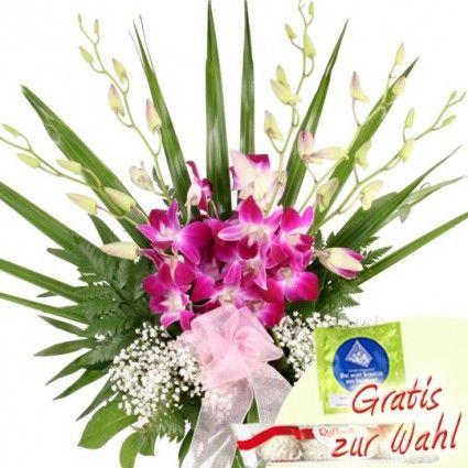 Blumenstrauß mit Orchideen online versenden – Blumen online verschicken auf www.blumenfee.de