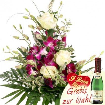 Blumenstrauß mit Orchideen online versenden – Blumen online verschicken mit Blumenfee - Dem Blumenversand