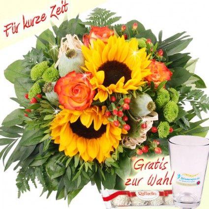 Sommerblumenstrauß mit Mohn - das Sommer-Mohn-Special bei Blumenfee online schnell und günstig verschicken