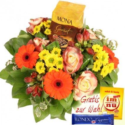 Blumenfee RÖSTfein Special - Blumen Kaffee Strauß Mona online bestellen und gut und günstig verschicken