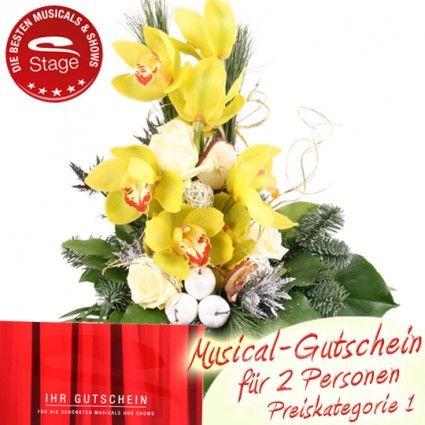 Weihnachts-Orchidee zusammen mit einem Musical Gutschein bestellen und gut und günstig online verschicken.