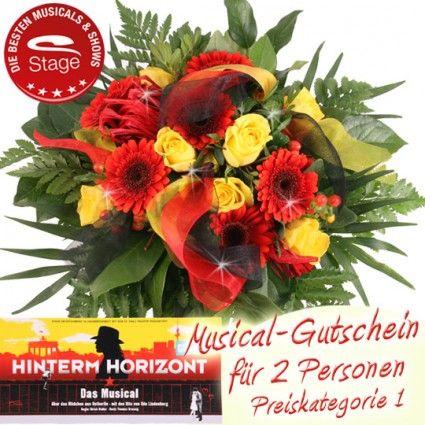 Musical Gutschein Hinterm Horizont online bestellen und mit Blumenstrauß verschicken