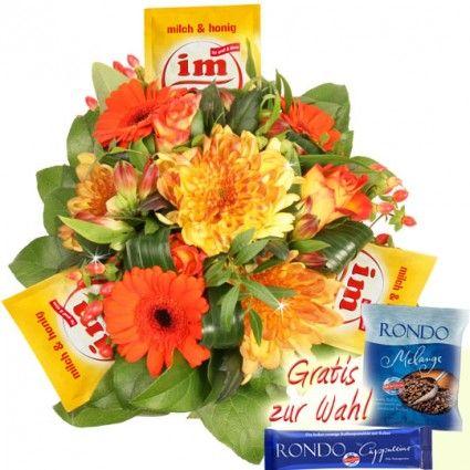 Blumen Kaffee Strauss mit imnu von RÖSTfein online bestellen und verschenken