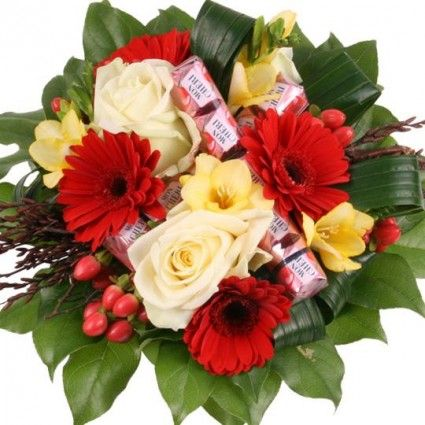 Süßer Traum mit 3 Gratiszugaben Ihrer Wahl – Blumen online verschicken auf www.blumenfee.de