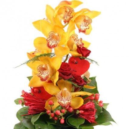 Orchideenstrauß für dich allein  – Orchideen online deutschlandweit versenden  mit www.blumenfee.de - dem Blumenversand