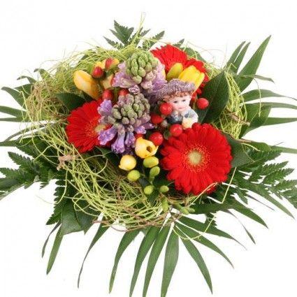 """Blumenstrauß """"Little Boy"""" mit 3 Gratiszugaben Ihrer Wahl – Blumen online im Blumenfee Blumenversand verschicken www.blumenfee.de"""