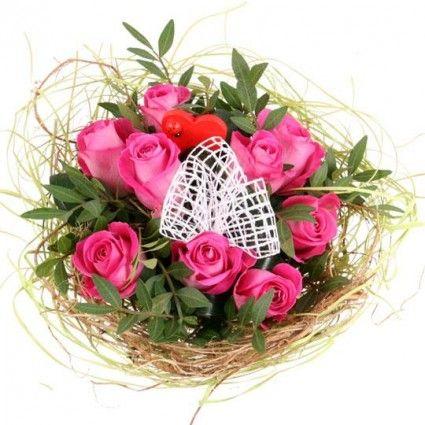 Blumenstrauss Rosentraum in Pink online verschicken mit www.blumenfee.de - dem Blumenversand