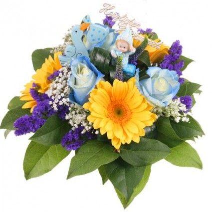 """Blumenstrauß zur Geburt """"Sweet Boy"""" – Blumen zur Geburt online verschicken"""