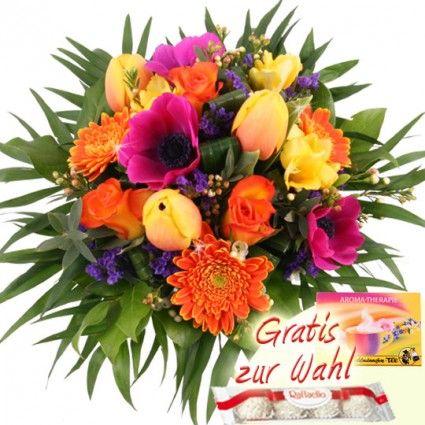 Frühlingsblumen mit Tulpen, Anemonen, Freesien - online schnell und frisch verschicken