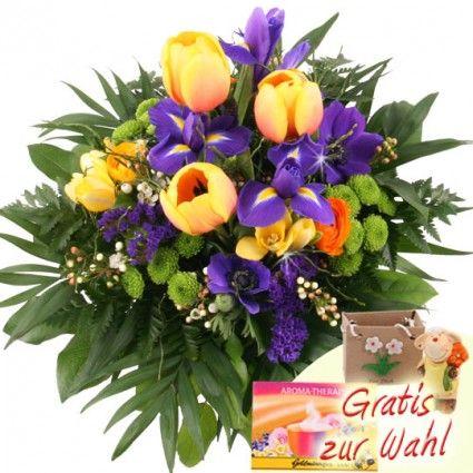 Frühlingsstrauss zum Geburtstag online bestellen und mit Blumenfee schnell und günstig versenden