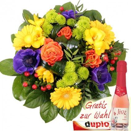 Frühlingsstrauß bunt online verschicken - gut und günstig mit dem Testsieger Blumenfee - Der Blumenversand