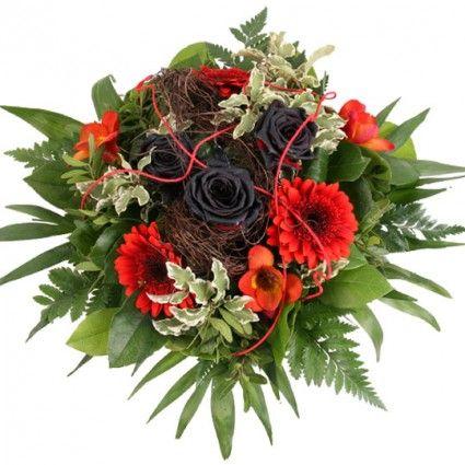 Blumenstrauß Schwarz Rote Verführung - Vampir-Strauß