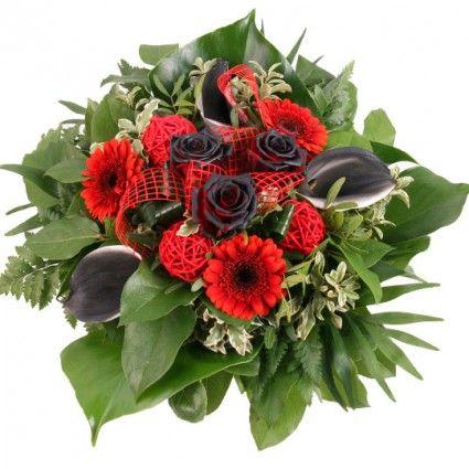 Blumenstrauß Schwarz-Rote Magie online versenden