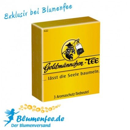Goldmännchen-Tee und Blumenfee - Verwöhnmomente online verschicken