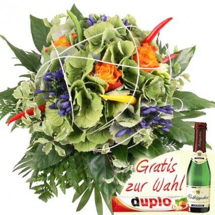 Scharfe Blumen - Der Chili-Strauß - Besondere Blumen online versenden mit Blumenfee