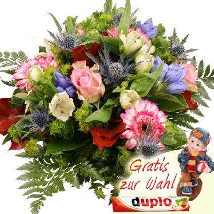Herstbliche Träume mit Rosen, Gerbera und Edel-Disteln online versenden