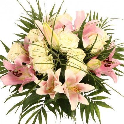 Lilien Rosen Strauß plus Gratis Zugabe in Profi-Qualität online versenden mit Blumenfee - Der Blumenversand