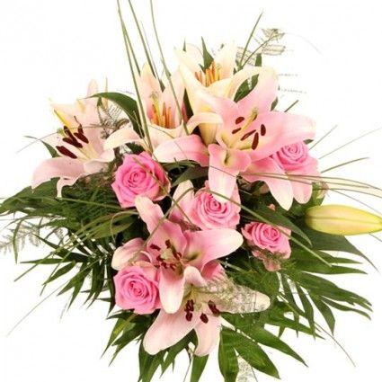 Lilienstrauß Premium Rosa Lilien-Gedicht online versenden mit Blumenfee