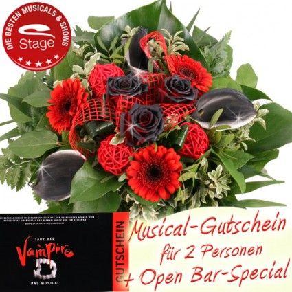Vampirstrauß - Musical Gutschein Tanz der Vampire inkl. Open Bar-Special mit Blumenstrauss online versenden mit Blumenfee