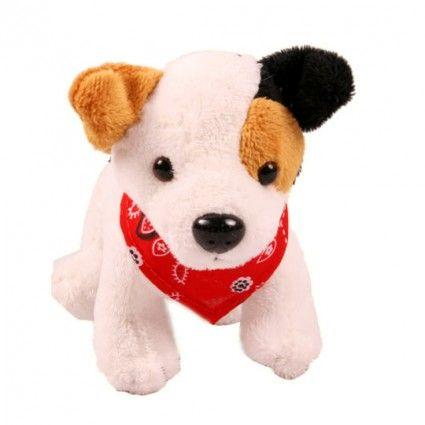 Plüschhund Terrier mit Halstuch
